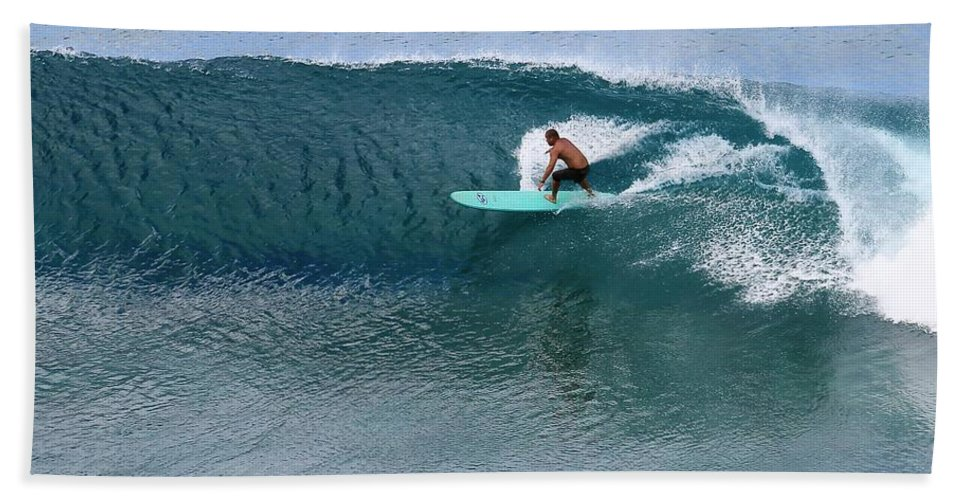 Surf Beach Towel featuring the photograph Rip Curl by Molly Leary
