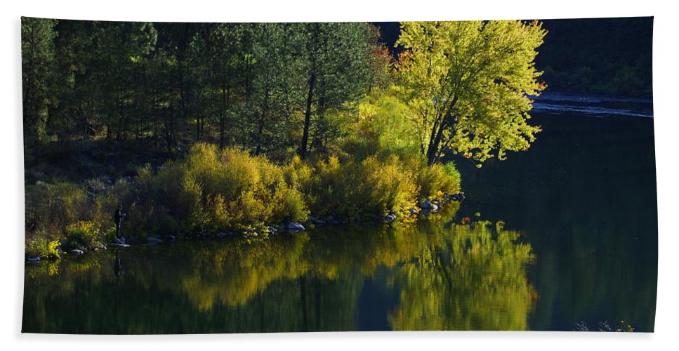 Nature Beach Towel featuring the photograph River Bend by Ben Upham III