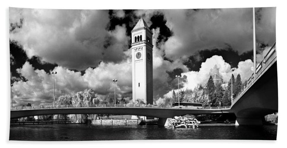 Landscape Beach Towel featuring the photograph River Front Park Spokane by Lee Santa