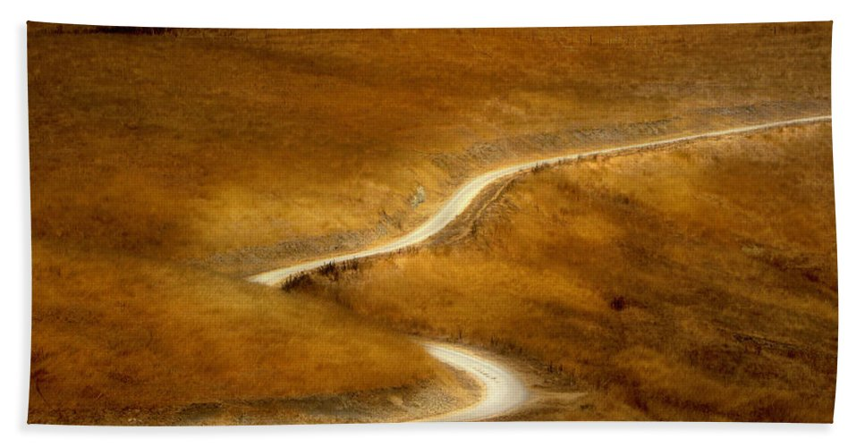 Landscape Beach Towel featuring the photograph River Of Life by Karen W Meyer
