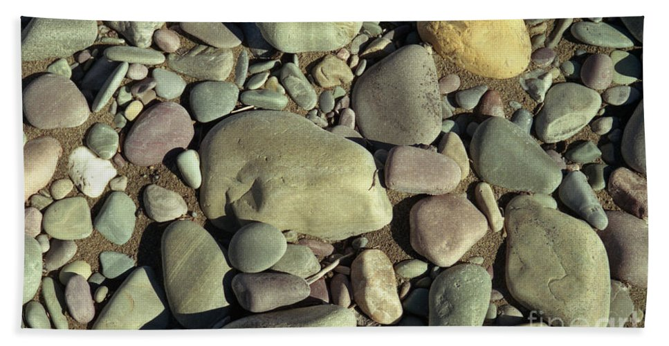 River Rock Beach Sheet featuring the photograph River Rock by Richard Rizzo