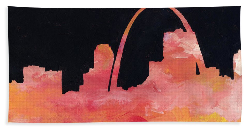 Cityscape Beach Towel featuring the painting Riverfront by Joseph A Langley