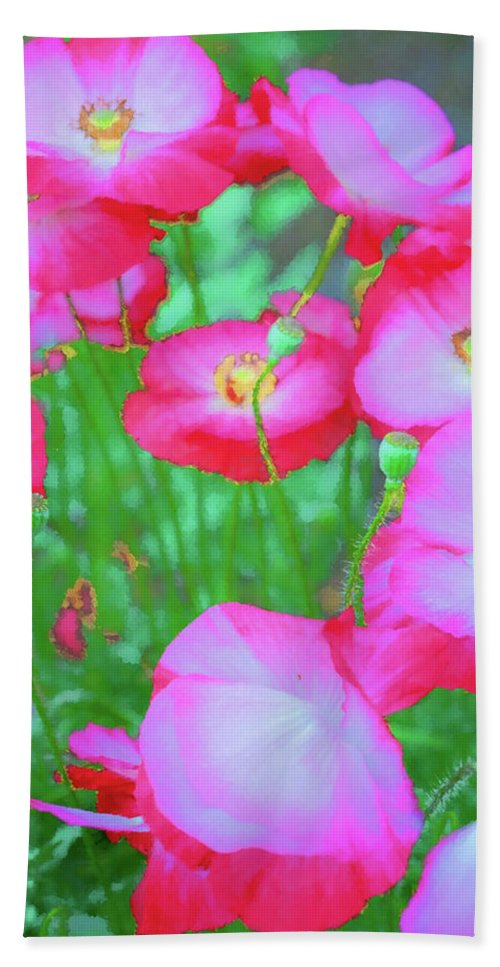 Clematis Vine Beach Towel featuring the photograph Roadside Flowers by Tom Singleton