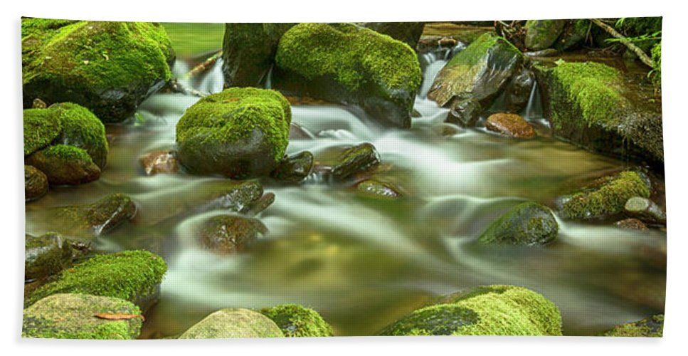 Roaring Fork Beach Towel featuring the photograph Roaring Fork Cascade by Stephen Stookey