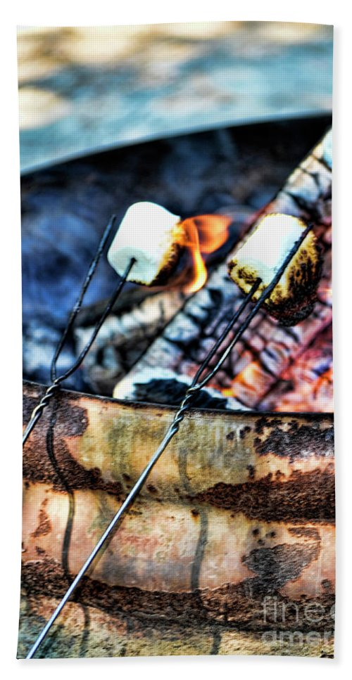 Fire Beach Towel featuring the photograph Roasting by Traci Cottingham