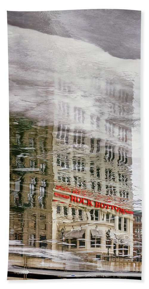 Ice Beach Towel featuring the photograph Rock Bottom by Scott Norris