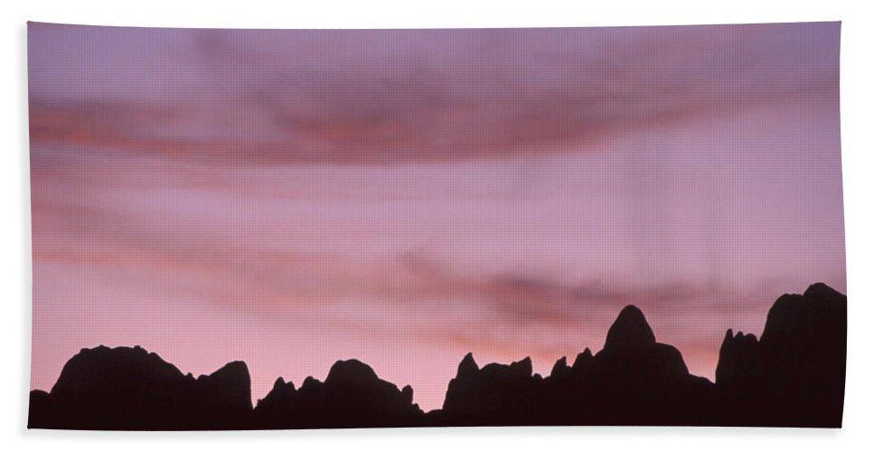 Lone Pine Ca. Beach Towel featuring the photograph Rock Outline - Alabama Hills by Soli Deo Gloria Wilderness And Wildlife Photography
