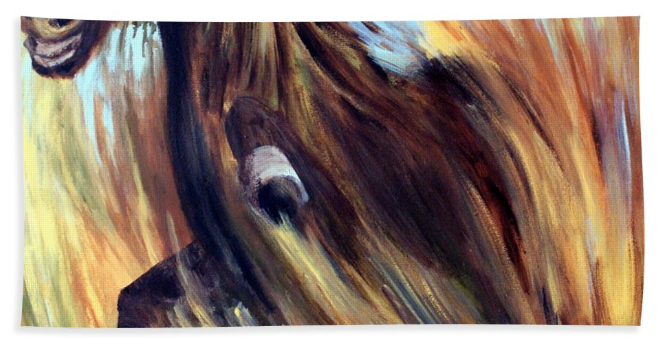 Horse Beach Towel featuring the painting Rock Star by Joanne Smoley