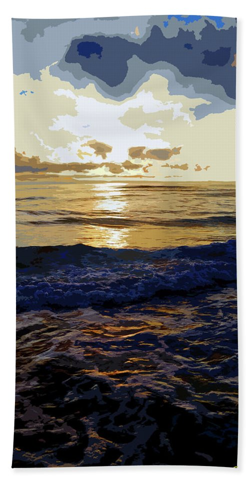 Nature Beach Towel featuring the photograph Rockaway Sunset #3 Enhanced #2 by Ben Upham III