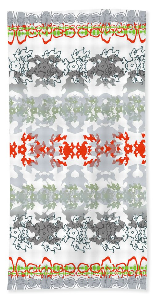 Beach Towel featuring the digital art Rocks And Lace by Ceil Diskin