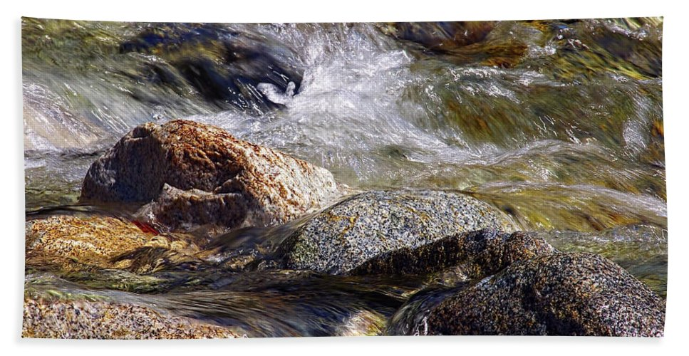 Rocks Beach Towel featuring the photograph Rocks In A Stream 2a by Sharon Talson