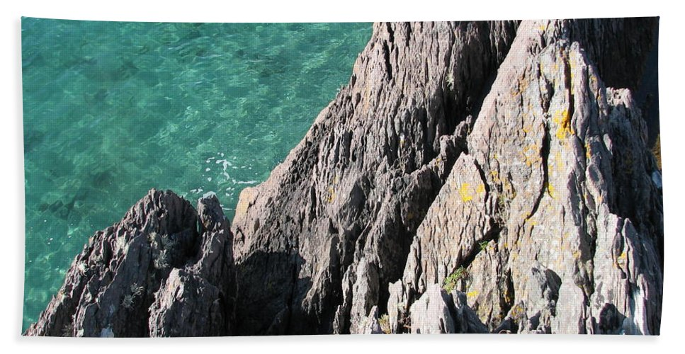Kerry Beach Towel featuring the photograph Rocks Of Kerry by Kelly Mezzapelle