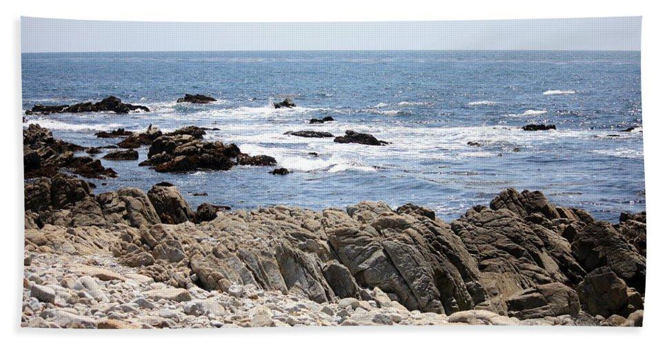 California Beach Towel featuring the photograph Rocky California Coastline by Carol Groenen