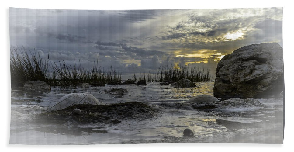 Sunrise Beach Towel featuring the photograph Rocky Morning by Leticia Latocki