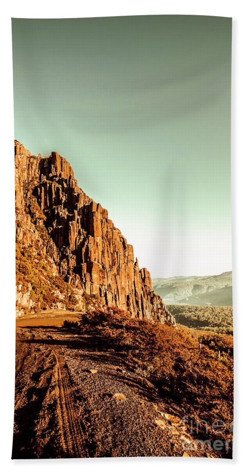 Landscape Beach Towel featuring the photograph Rocky Mountain Route by Jorgo Photography - Wall Art Gallery