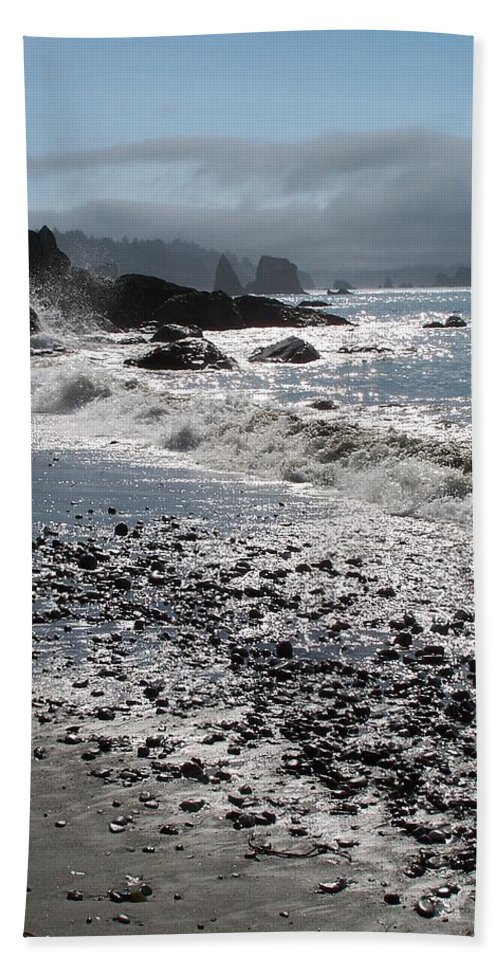 Ocean Beach Sheet featuring the photograph Rocky Shores by Gale Cochran-Smith