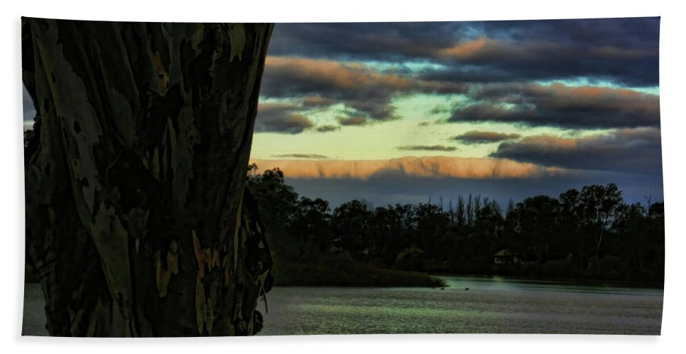 Murray River Beach Towel featuring the photograph Rolling Cloud by Douglas Barnard