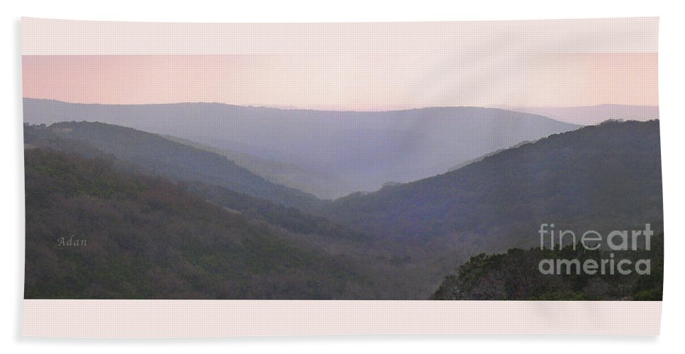 Hill Country Beach Towel featuring the photograph Rolling Hill Country Panorama by Felipe Adan Lerma