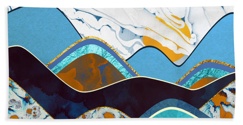 Hills Beach Towel featuring the digital art Rolling Hills by Spacefrog Designs