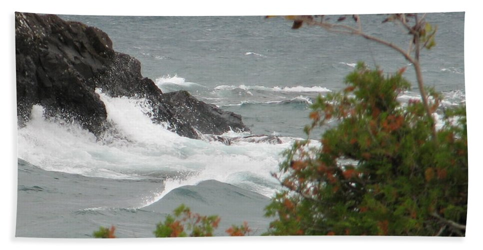 Waves Beach Towel featuring the photograph Rolling Storm by Kelly Mezzapelle