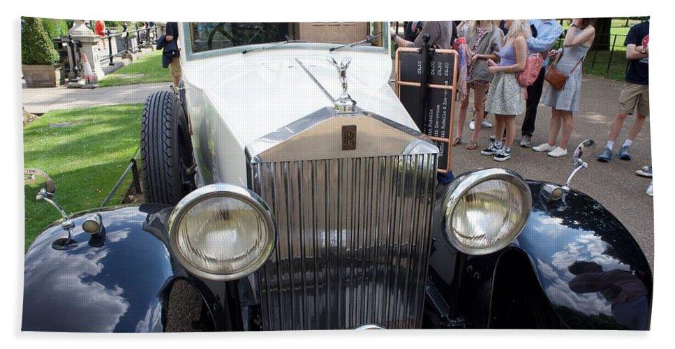 Rolls Beach Towel featuring the photograph Rolls Royce Ice Cream Car by Ronald Watkins