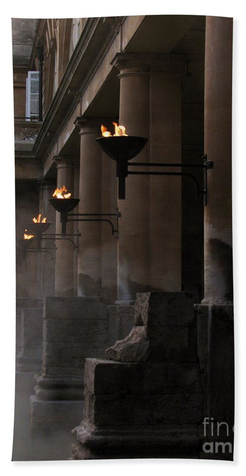 Bath Beach Towel featuring the photograph Roman Baths by Amanda Barcon
