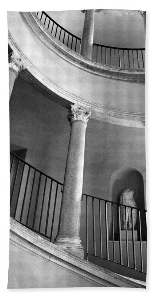 Italy Beach Towel featuring the photograph Roman Staircase by Donna Corless