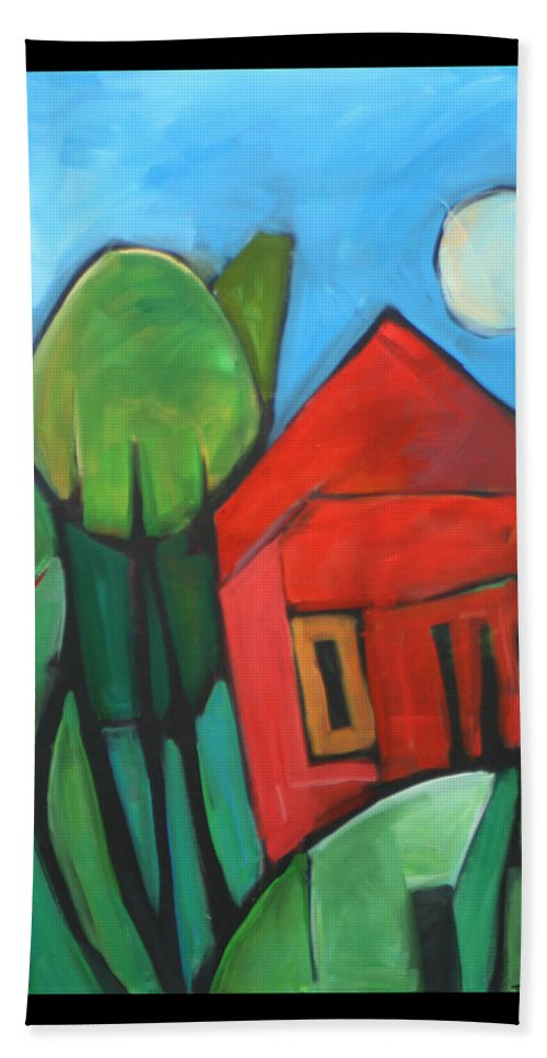 Trees Beach Towel featuring the painting Root Cellar by Tim Nyberg