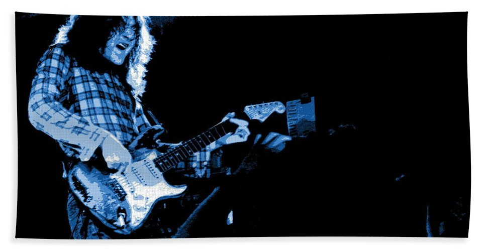 Rory Gallagher Beach Towel featuring the photograph Blues by Ben Upham