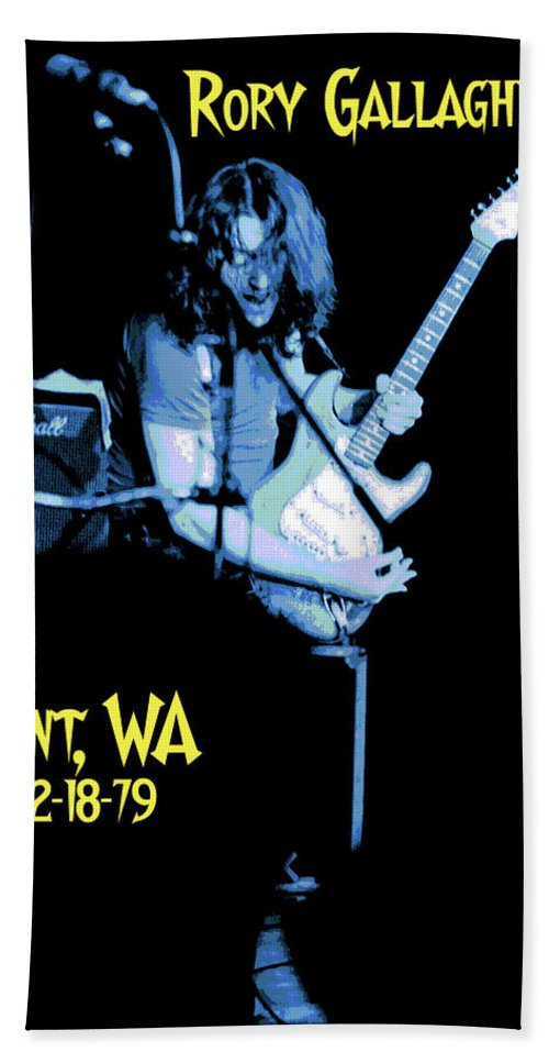 Rory Gallagher Beach Towel featuring the photograph Rory Kent Blues by Ben Upham