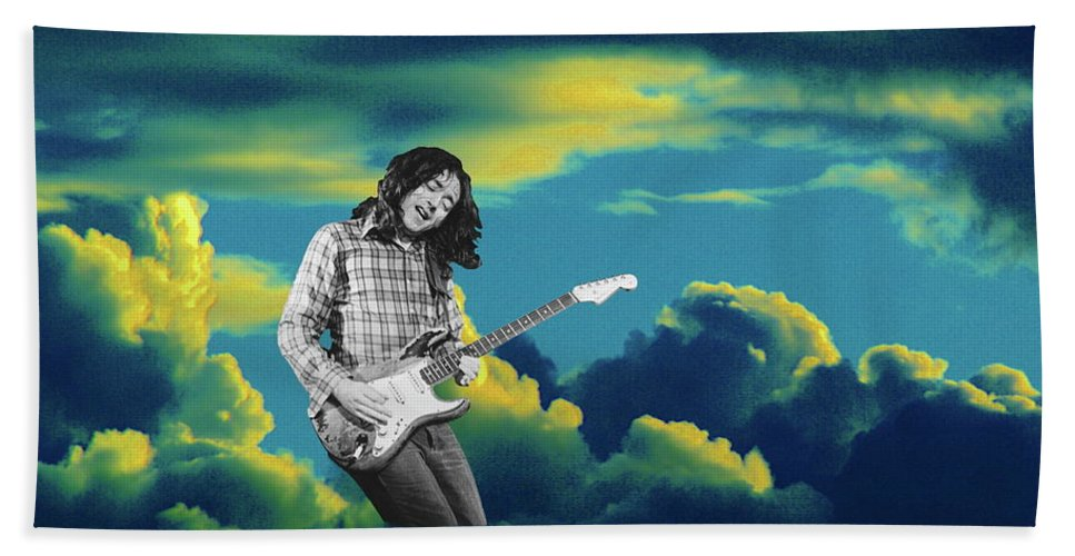 Rory Gallagher Beach Towel featuring the photograph In The Clouds by Ben Upham