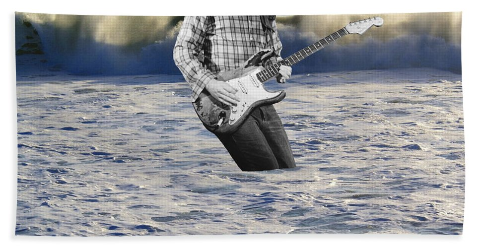 Rock Musicians Beach Towel featuring the photograph Lost At Sea by Ben Upham