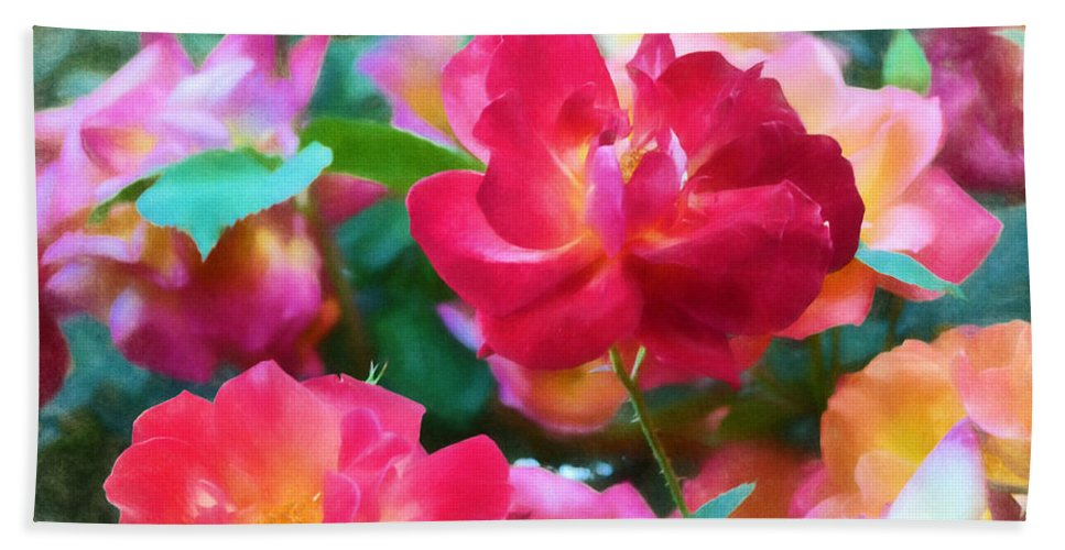 Floral Beach Towel featuring the photograph Rose 354 by Pamela Cooper
