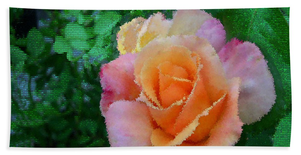 Rose Beach Towel featuring the photograph Rose by Bonnie Willis
