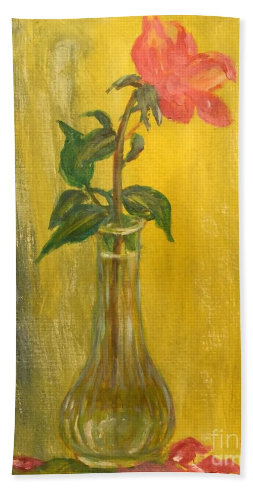 Rose Beach Towel featuring the painting Rose by Lavender Liu