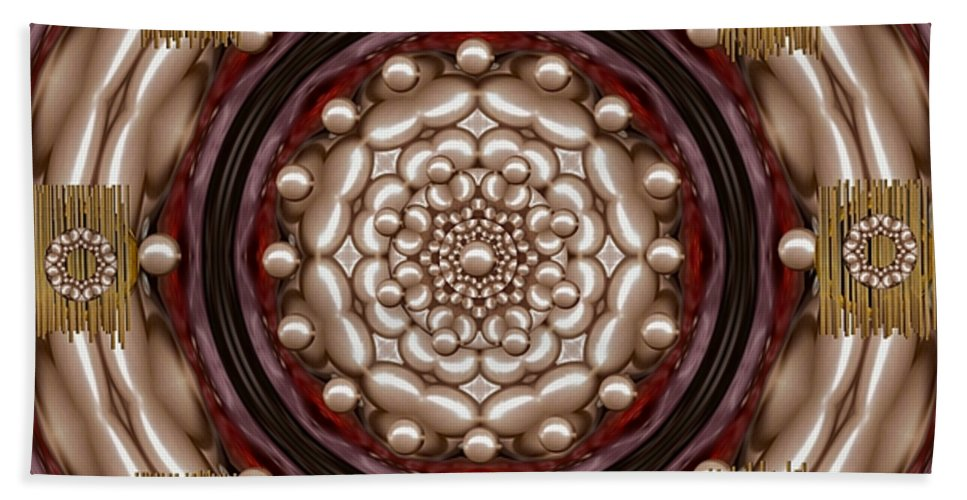 Rose Of Perls Beach Towel featuring the mixed media Rose Of Japan by Pepita Selles