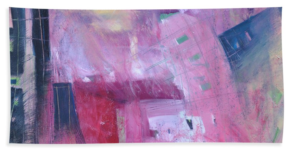 Rose Beach Towel featuring the painting Rose Room by Tim Nyberg