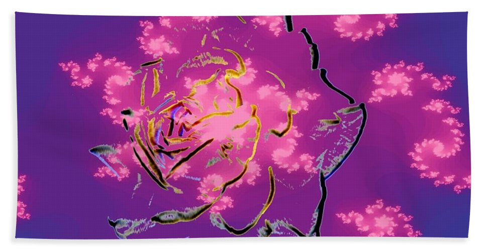 Rose Beach Towel featuring the digital art Rose by Tim Allen