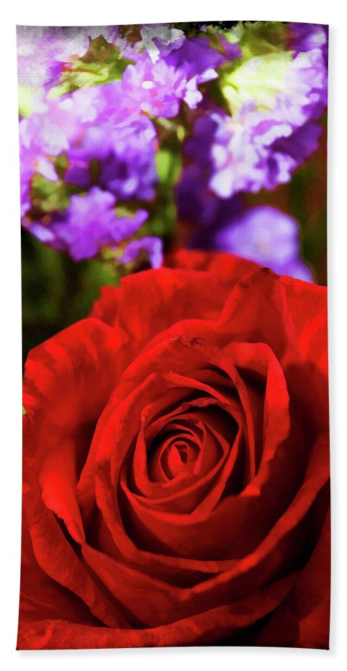 Rose Beach Towel featuring the photograph Roses Are Red II by Ricky Barnard