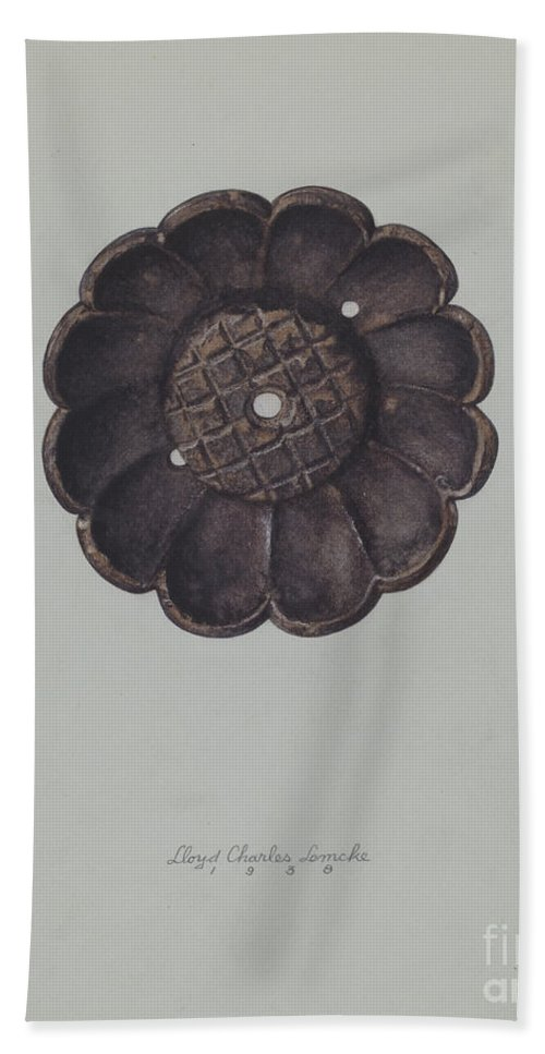 Beach Towel featuring the drawing Rosette by Lloyd Charles Lemcke
