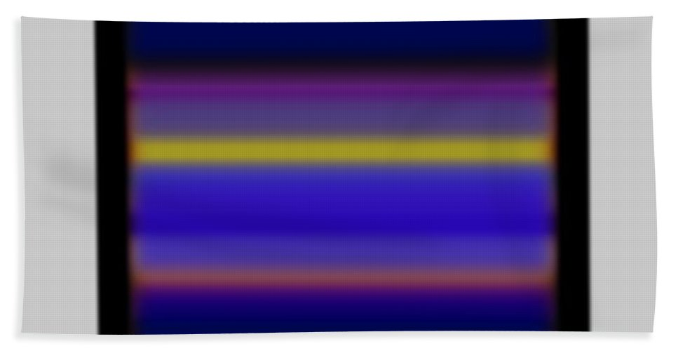 Sunset Beach Towel featuring the painting Rothko Tv by Charles Stuart