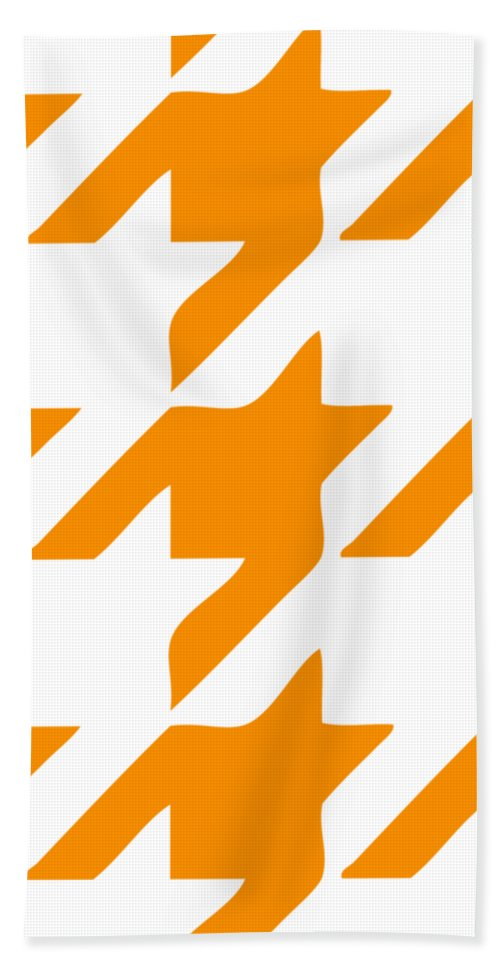 Houndstooth Beach Towel featuring the digital art Rounded Houndstooth White Background 03-p0123 by Custom Home Fashions