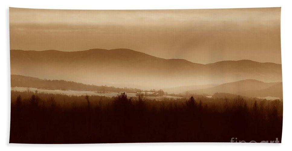 Landscape Beach Towel featuring the photograph Route 120 Vermont View by Deborah Benoit