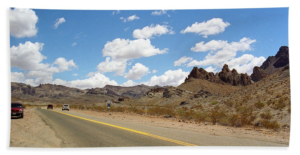 66 Beach Towel featuring the photograph Route 66 - Arizona by Frank Romeo
