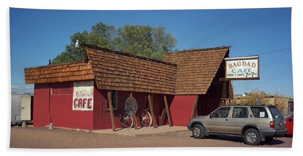 66 Beach Towel featuring the photograph Route 66 - Bagdad Cafe by Frank Romeo