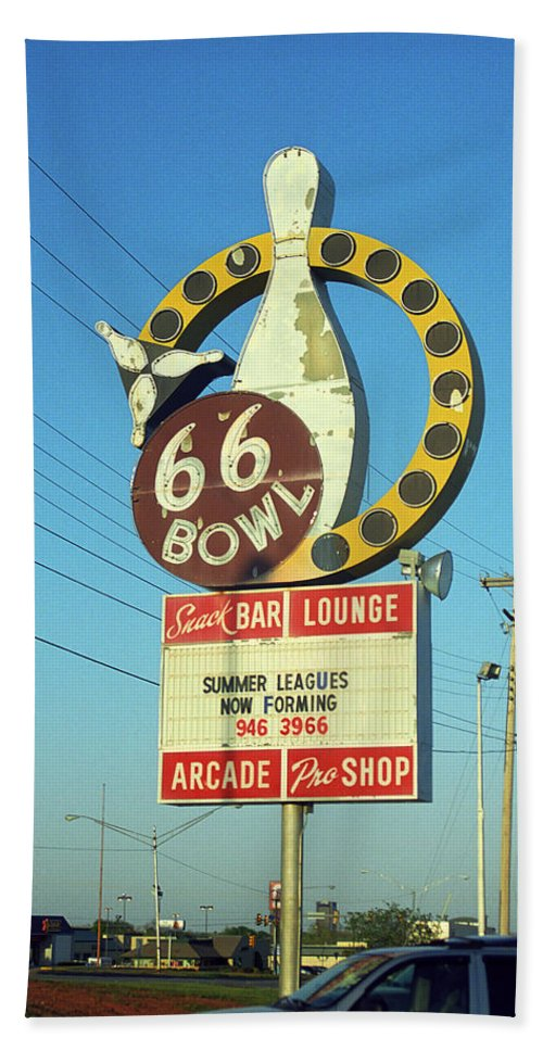 66 Beach Towel featuring the photograph Route 66 Bowl by Frank Romeo