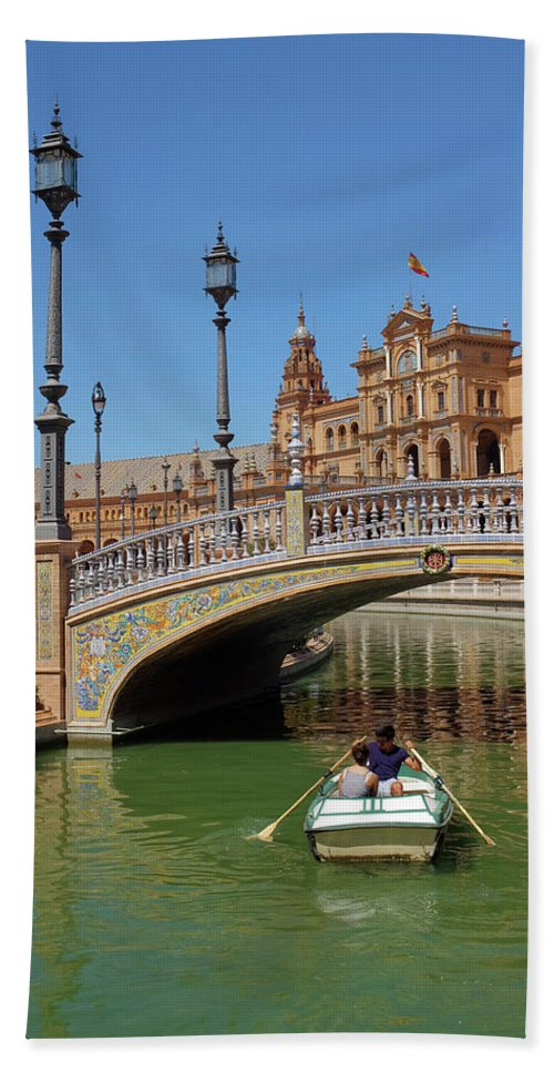 Vertical Beach Towel featuring the photograph Row Boating In Seville by Carlos Caetano