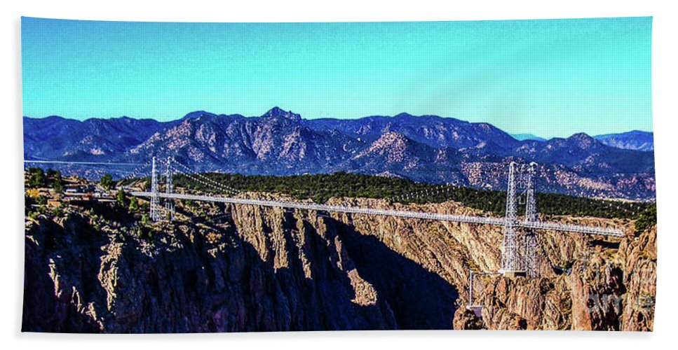 Royal Gorge Beach Towel featuring the photograph Royal Gorge Bridge by Tommy Anderson