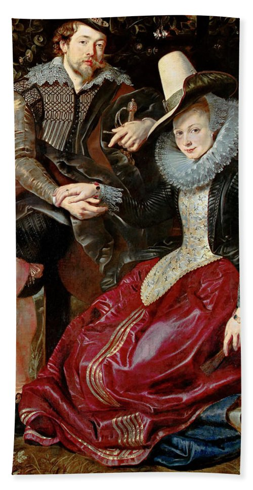 rubens self portrait with his first wife isabella brant in the