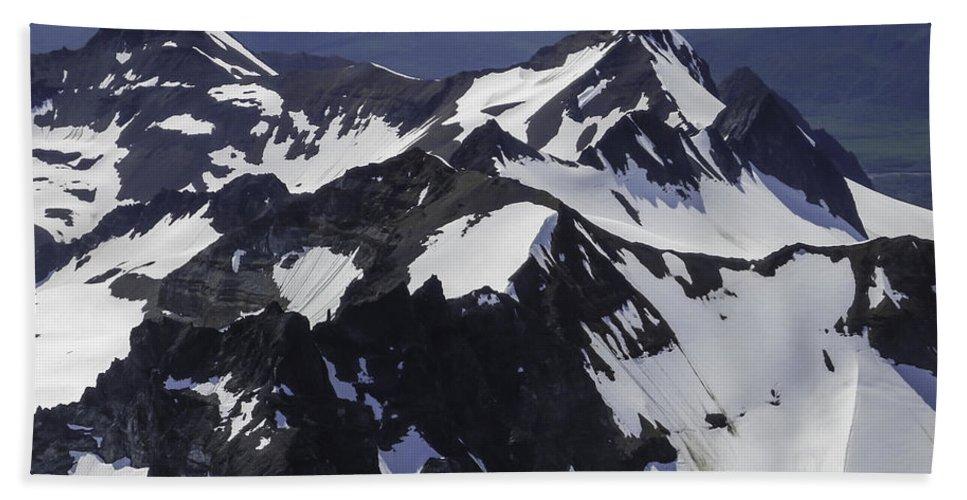 Rugged Mountain Peaks Beach Towel featuring the photograph Rugged Mountain Peaks by Phyllis Taylor